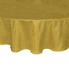 Mantel Agatha 180 cm amarillo redondo poliéster