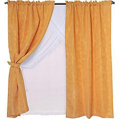 Set de cortinas tela 145x220cm Kate mostaza
