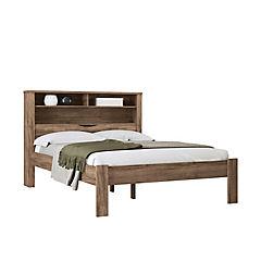 Cama full más colchón con repisas 112x148x216 cm