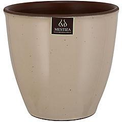 Macetero zafiro arcilla 17 cm beige