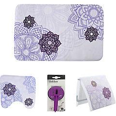 Set de 4 accesorios de baño diseño mandala