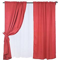 Set cortinas Diana 8 piezas rojo