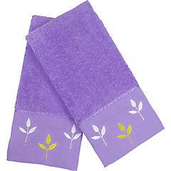 Set 2 toallas broderie 360 gramos lila