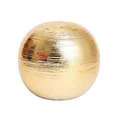 Esfera cerámica 10 cm dorado