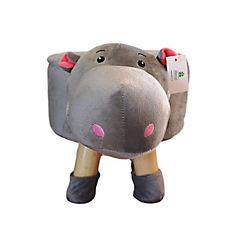 Pouf hipopótamo 50x28x28 cm gris