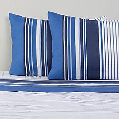 Sábana 144 hilos azul center king