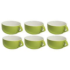 Set 6 mugs 260 cc verde