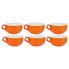 Set 6 mugs 260 cc naranjo