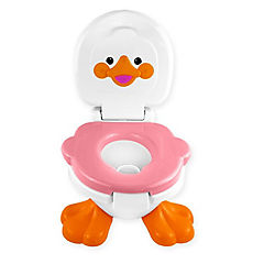 Pelela infantil baby potty patito rosado