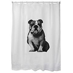 Cortina para baño estampada bulldog mallorca