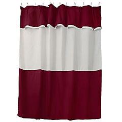 Jgo cortina para baño 6 piezas burdeo