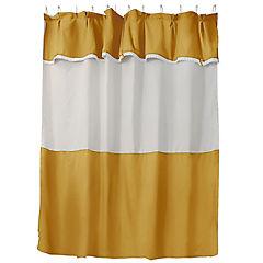 Jgo cortina para baño 6 piezas mostaza