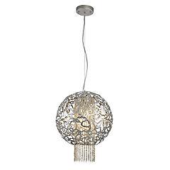 Lámpara colgante Plata 4 luces G9
