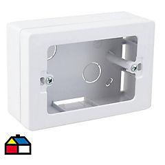 Caja de distribución sobrepuesta y canaleta 12,3x8 cm PVC