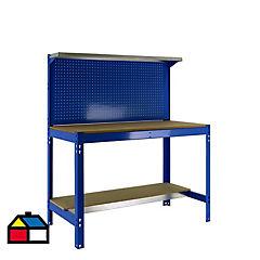 Mesa de trabajo 144,5x121x61 cm metal