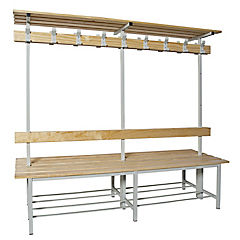 Banca metal-madera100x180x67 cm