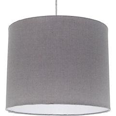 Lámpara colgante lisa gris 1 luz E27