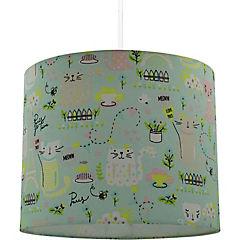 Lámpara colgante gato verde 1 luz e27