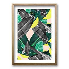 Cuadro 50x35 cm ilustración selva amarilla