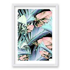 Cuadro 40x30 cm ilustración palmas
