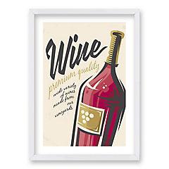 Cuadro 70x50 cm ilustración al vino