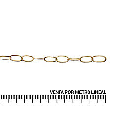 Cadena decorativa 2,6 mm bronce
