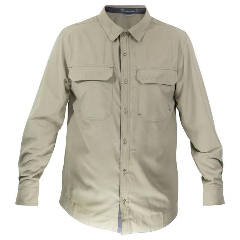 HARDWORK - Camisa hombre beige talla L hw oregon geo tech dry
