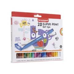 BRUYNZEEL - Plumones superpoints 20 colores