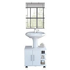 Combo mueble de lavamanos + espejo