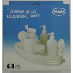 MAGLA - Esquinero para ducha 31x22x6 cm PVC