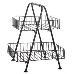 SOHOGAR - Organizador multiuso metal con canastos 2 niveles