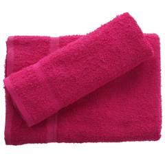 undefined - Juego de toalla baño y mano 380 gr 2 unidades Fucsia