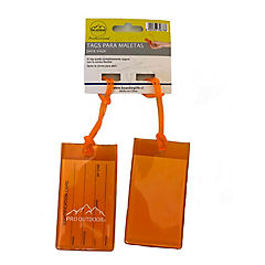 Identificador de maletas para viaje naranjo