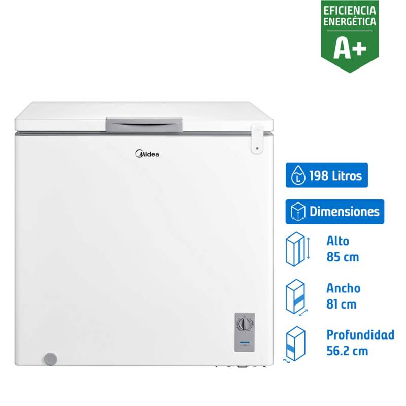 MIDEA - Freezer horizontal 198 litros