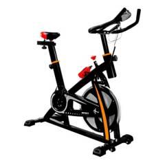 undefined - Bicicleta spinning fitness acero negro