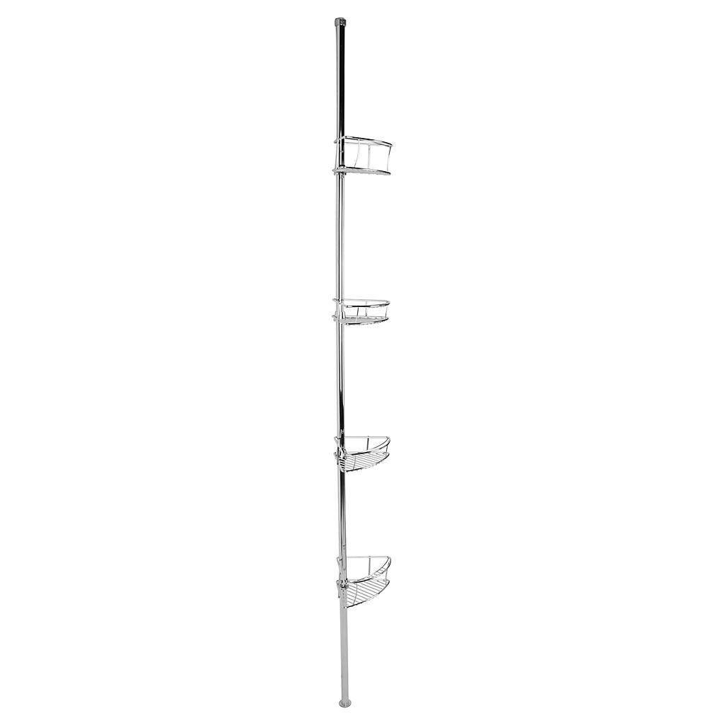 Esquinero para ducha 4 repisas plástico cromado - Sodimac.com bf54fc7d9d8b