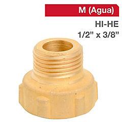 Reducción llave bronce 1/2 HI x 3/8 HE BSP