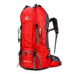 undefined - Mochila 60 lts transpirable outdoor trekking rojo