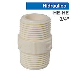 Niple PVC HE-HE 3/4