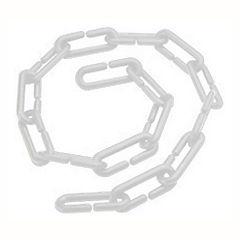 Cadena plástica 1 m blanco