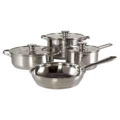 ROICHEN - Batería de cocina 7 piezas acero inoxidable