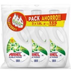 ARIEL - Tripack detergente 3x1.8 litros