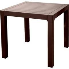 REYPLAST - Mesa resina tipo madera 80x80 cm