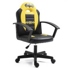 WARNER - Silla escritorio 52x93x38 cm negro/amarillo
