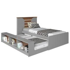 DECOCASA - Cama + cama auxiliar 1 plaza