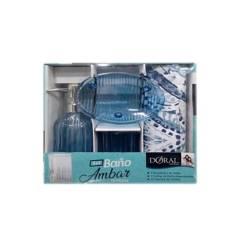 DORAL - Set baño ambar azul