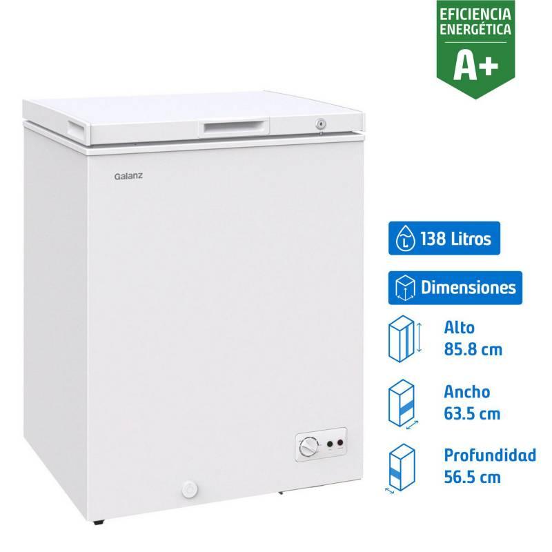 GALANZ - Freezer horizontal 138 litros blanco
