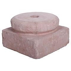 Base para quitasol hormigón 20 cm rojo