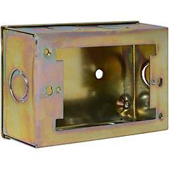 Caja de distribución sobrepuesta 12x7,5 cm metal