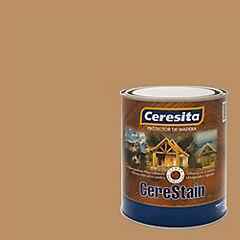 Preservante de madera satinado 1/4 gl castaño